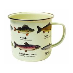 Go back to nature with this Gift Republic Multi Fish Enamel Mug with all over fish print. Your morning cup of joe or tea is sure to go down swimmingly well. Rainbow Trout, Fish Print, Back To Nature, Fancy, Enamel, Tea, Mugs, Tableware, Gifts