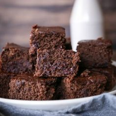 Double Chocolate Chickpea (Or Black Bean) Brownies! - a healthy flourless gluten free dessert   TheRoastedRoot.net#chocolate #recipe