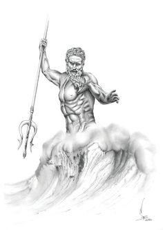 About the artwork: Poseidon in Greek mythology is the god of the sea. He is the son of Cronus and Rhea and brother of Zeus and Hades, lived on
