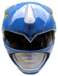 MMPR Blue Ranger Helmet Render by RussJericho23.deviantart.com on @deviantART