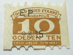saving gold  bond stamps for prizes