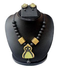 Terracotta Necklace Set #handicraftshops #terracottanecklace #craftshopsindia