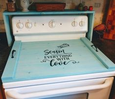 Farmhouse Stove Top Oven Cover Noodle Board, Stove Cover, Serving Tray, Sink Cover - Season Love Far Wooden Stove Top Covers, Stove Covers, Glass Stove Top Cover, Diy Projects To Try, Home Projects, Stove Board, Stove Top Oven, Sink Cover, Noodle Board