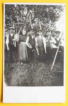 Groß Christinenberg ( Naugard ) die Sensenmänner gelaufen 1916