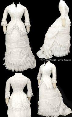Natural form dress, 1876.