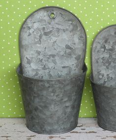 This Large Flat-Back Hanging Tin Set by Expect Personality is perfect! #zulilyfinds