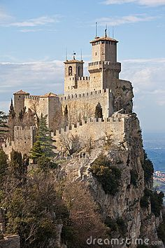 San Marino Castle - Mighty towers on the summit of Mount Titanos