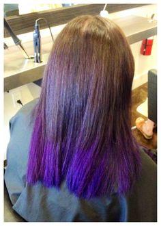 Bold new #purpleombre. Color by #hannahmurray. #ombre #purplehair #studiobesalon