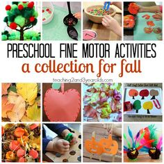 Preschool fine motor activities that are perfect for fall - Teaching 2 and 3 Year Olds