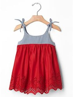 Mix-media eyelet dress: $39.95, available in sizes 0 to 24 months. Gap Kids & Baby Gap: $$, local Cville franchise