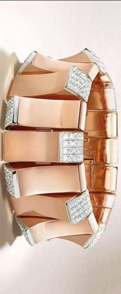 Jewel Worthy {Rose Gold and Diamond Bracelet by Damiani}