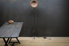 Vintage Wilbert Copper Pan Cage Lamp : Factory 20
