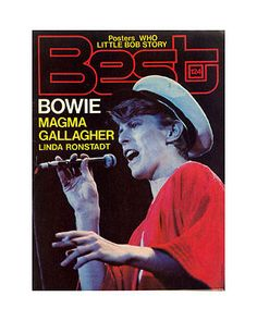 David Bowie, Magma, etc - Best #124 -   French mag - 11/78 - cover (live - cap).