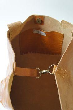 Belleville Large Horizontal Leather Bag by stitchandtickle