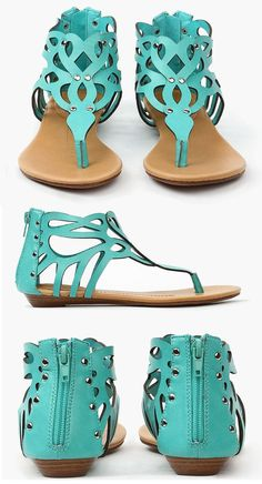 Mint Cut-Out Butter Field Sandals ♥
