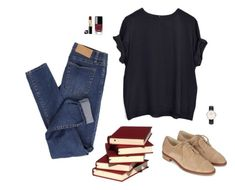 """""""Bookish"""" by catwomaan ❤ liked on Polyvore featuring Cheap Monday, Chanel and Daniel Wellington"""