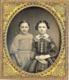 Daguerreotype of two sisters: