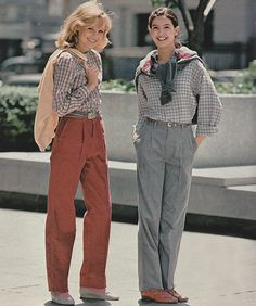 """justseventeen: """"December 1980. 'Pleated pants make you look terrific anytime in Cone Crewscord Corduroy.' """""""