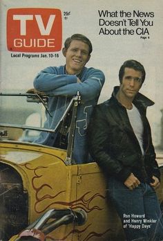 Ron Howard and Henry Winkler on the cover of TV Guide - October 14, 1975