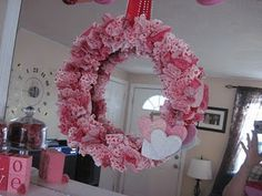 Valentine wreath, made out of cupcale liners