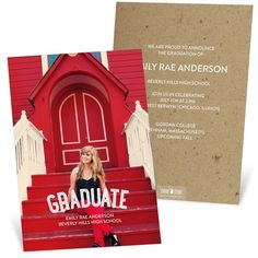 College Graduation Announcements -- The Graduate Vertical | Pear Tree Greetings
