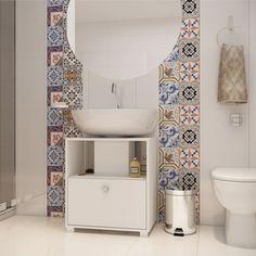 Para manter #banheiro pequeno sempre #organizado, aposte em #gabinete #compacto! Este modelo da nossa parceira, BRV está fazendo o maior sucesso lá no site. #prod145356