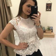 Classy Outfits, Trendy Outfits, Beautiful Outfits, Fashion Outfits, Casual Tops For Women, Blouses For Women, Blouse Styles, Blouse Designs, Blue Chiffon Dresses