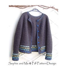 Ravelry: Short Jacket with Round Yoke pattern by Sophie and Me-Ingunn Santini