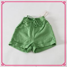 2015 Kid Girls Candy Color Linen Shorts Elastic Waist And Pocket Design Mini Pants Princess Cute Party Clothing Online with $9.74/Piece on Smartmart's Store | DHgate.com