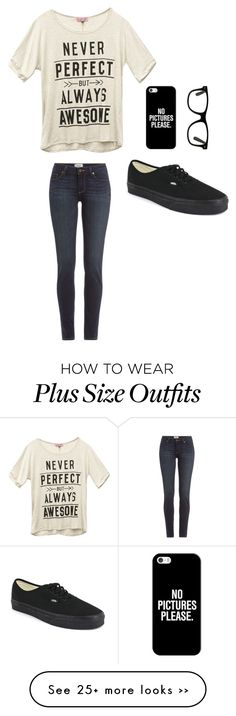 """""""Day out"""" by clairebear89 on Polyvore featuring Wet Seal, Paige Denim, Vans and Casetify"""