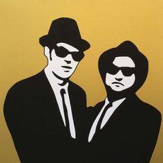 LODOLA MARCO - BLUES BROTHERS - Serigrafia a colori su carta 70 x 70 cm