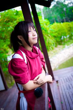 Chihiro (Spirited Away) by Ryeain Ryea - - Hentai Cosplay Hayao Miyazaki, Studio Ghibli, Costume Dress, Cosplay Costumes, Chihiro Cosplay, Cute Halloween Costumes, Spirited Away, Best Cosplay, Dress Up
