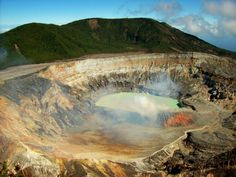 View of the main crater of Poas Volcano in Costa Rica