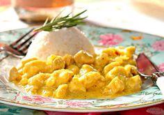 Receita de Frango ao curry com arroz de coco - Frango - Dificuldade: Médio