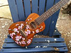 Hand Painted Cherry Blossoms on YOUR Ukulele by LemonTreeWorkshop