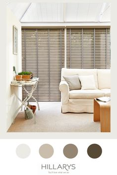 To add character to your conservatory, consider Faux Wood blinds. They have a gorgeous wood-effect finish and come in a variety of natural and painted shades. They benefit from being moisture-resistant and, unlike real wood, they won't be affected by the hot sun. If you like a slatted blind, but want to add a splash of colour, we also have a range of metal Venetian blinds that work in the same way as Wooden blinds. View more inspiration on conservatories. Small Conservatory, Faux Wood Blinds, Conservatories, Real Wood, Venetian, Color Splash, Benefit, Shades, Range
