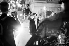 Anna and Spencer Photography, Sparkler exit at the Georgian Terrace Hotel in Atlanta.