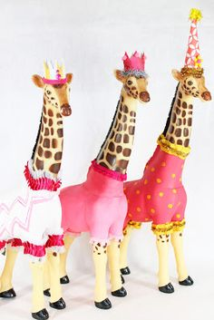 Giraffe circus animals, Painted Parade on Etsy Via, The ragged wren