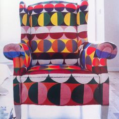 painted chair by artist cilla ramnek