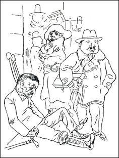 El blog del viejo topo: George Grosz y sus grotescas fachas. Arte, vanguardia alemana y resistencias.