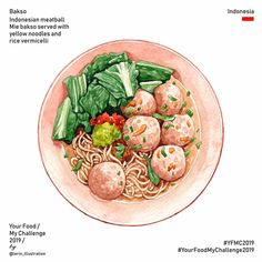 Your Food My Challenge 2019 Cơm tấm Sài Gòn Broken rice with grilled pork chop Vietnam 🇻🇳 Food Sketch, Food Cartoon, Watercolor Food, Food Wallpaper, Food Painting, Food Goals, Food Drawing, Indonesian Food, Food Illustrations