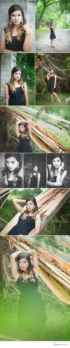 d-Squared Designs Missouri Senior Photography. Senior girl photography. Classy. Black dress. Formal. Outdoor inspiration.