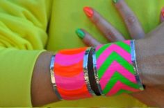 Bright Duct Tape Cuffs