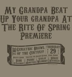 The Rite of Spring t-shirt.