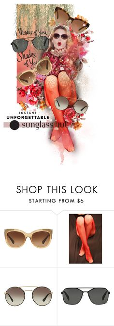 """""""Shades of You: Sunglass Hut Contest Entry"""" by victoria-bella-donna ❤ liked on Polyvore featuring Coach, Prada and Michael Kors"""