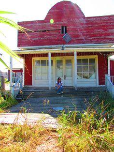Abandoned Dance Hall. Winkelmann, Texas