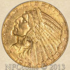 1915-S Five Dollar Gold Indian MS62 PCGS