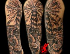 lighthouse tattoo on leg - Google Search