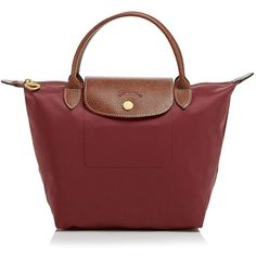 Longchamp Le Pliage Mini Tote (1,595 MXN) ❤ liked on Polyvore featuring bags, handbags, tote bags, slate grey, foldover tote, longchamp tote bag, travel purse, travel totes and nylon tote bag