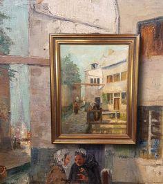 Altstadt in Brüssel. Original Ölgemälde mit Rahmung. Sehr schöner Impressionist